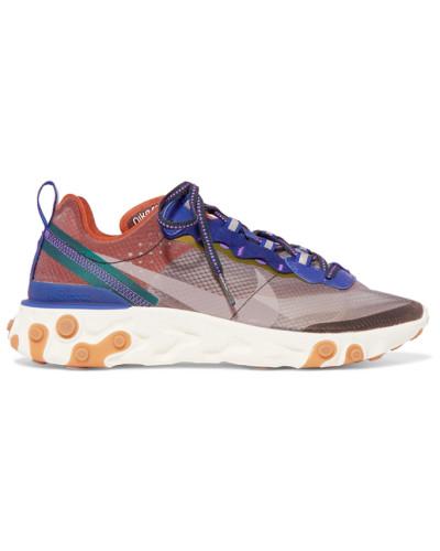 React Element 87 Sneakers aus Ripstop, Leder und Veloursleder