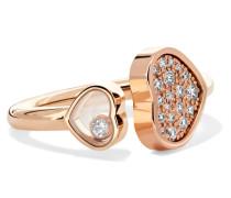 Happy Hearts Ring aus 18 Karat  mit Diamanten
