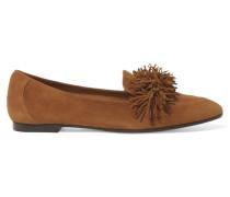 Wild Loafers Aus Veloursleder Mit Fransen -