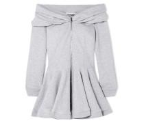 Schulterfreies Minikleid aus Baumwoll-jersey mit Schößchen -