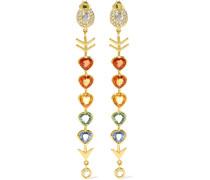Love Arrow Ohrringe Aus 18 Karat  Mit Diamanten Und Saphiren