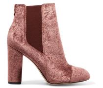 Case Ankle Boots Aus Geprägtem Samt -