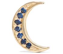 Mini Crescent Ohrring aus 14 Karat  mit Saphiren