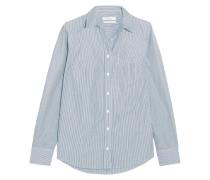 Boy Gestreiftes Hemd Aus Baumwollpopeline -