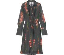 Selwyn Hemdblusenkleid Aus Seiden-georgette Mit Blumenprint - Schiefer