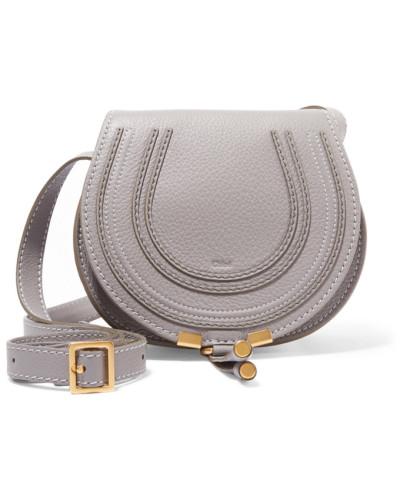 Chloé Damen Marcie Mini Schultertasche aus Strukturiertem Leder