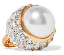 Vereter Ring Mit Kristallen Und Kunstperle