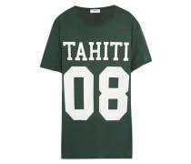 Bedrucktes T-shirt Aus Baumwoll-jersey - Dunkelgrün