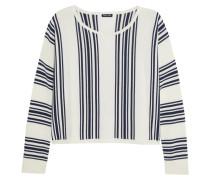 Bayside Gestreiftes Sweatshirt Aus Stretch-strick -