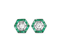 Collection Ohrringe aus 18 Karat Weiß mit Smaragden und Diamanten