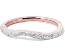 Riva Wave Ring mit Roségoldauflage und Diamanten
