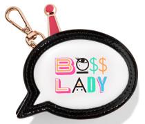 Boss Lady Münzbörse aus bedrucktem Leder