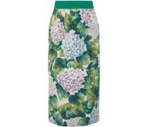 Midirock Aus Floral Bedruckter Charmeuse Aus Einer Seidenmischung -