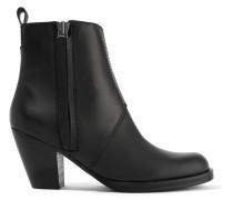 Pistol Ankle Boots Aus Leder -