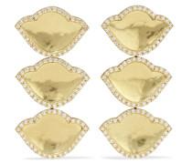 Karana Lotus Ohrringe aus 18 Karat  mit Diamanten