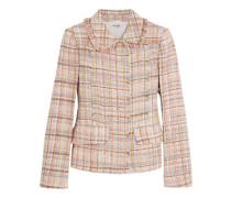 Karierte Tweed-Jacke aus einer Wollmischung