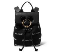 Pierce Mini Rucksack Aus Besticktem Canvas Und Leder -