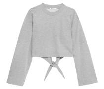 Verkürztes Sweatshirt Aus Jersey Aus Einer Baumwollmischung Mit Bindedetail Hinten -