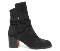 Karistrap 70 Ankle Boots Aus Veloursleder - Schwarz