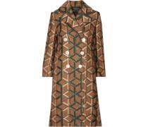 Doppelreihiger Mantel Aus Metallic-jacquard -