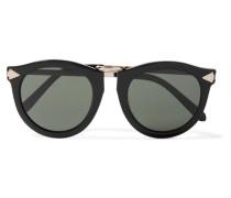 Harvest Sonnenbrille Mit Rundem Azetatrahmen Und Silberfarbenen Details -