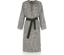 Iban Mantel Aus Tweed Aus Einer Wollmischung Mit Fransen - Grau