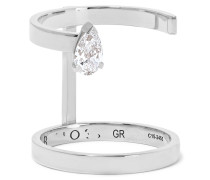 Serti Sur Vide Ring Aus 18 Karat Weiß Mit Einem Diamanten