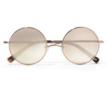 Mott Verspiegelte Sonnenbrille Mit Rundem Bronzefarbenem Rahmen - Braun