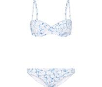 Sapri Bedruckter Bügel-bikini - Hellblau