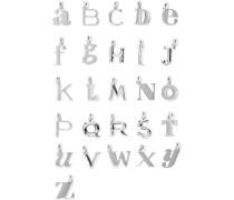 Alphabet Letter A–Z Buchstabenanhänger aus Sterlingsilber