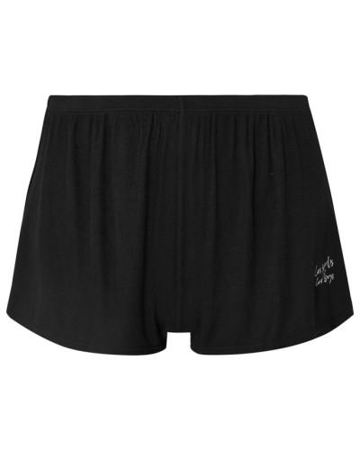 Pyjama-shorts aus Geripptem Stretch-jersey