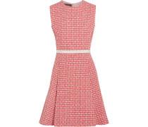 Minikleid Aus Tweed Aus Einer Wollmischung Mit Falten - Rot