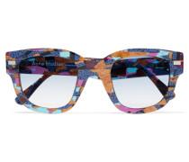 Sonnenbrille Mit Eckigem Rahmen Aus Azetat -