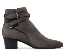 Blake Ankle Boots Aus Veloursleder - Dunkelgrau