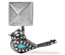 Brünierter farbener Ohrring Mit Emaille