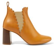 Ankle Boots Aus Leder Mit Wellenkante -