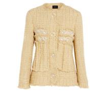 Verzierte Jacke Aus Metallic-tweed - Gold