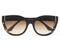 Nevermindy Sonnenbrille Mit Cat-eye-rahmen Aus Azetat - Schwarz