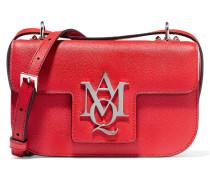 Insignia Schultertasche Aus Strukturiertem Leder - Rot