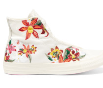 + Patbo Chuck Taylor High-top-sneakers Aus Canvas Mit Stickerei - Weiß