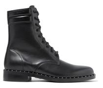 Bedruckte Ankle Boots Aus Leder Mit Nieten -