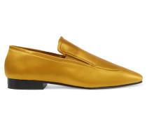 Loafers Aus Satin - Sonnengelb