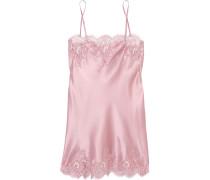 Tendresse Nachthemd Aus Satin Aus Einer Seidenmischung Und Chantilly-spitze - Pastellrosa