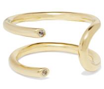 Aldona Vergoldeter Ring Mit Topasen