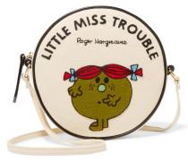 Little Miss Trouble Schultertasche Aus Baumwoll-faille Mit Applikation - Creme