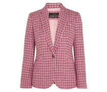 Campbell Blazer Aus Einer Wollmischung Mit Hahnentrittmuster - Pink