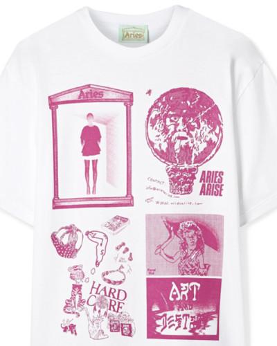 Zine T-shirt aus Bedrucktem Baumwoll-jersey