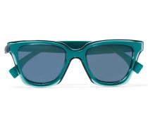 Sonnenbrille Mit Eckigem Rahmen Aus Azetat - Blau