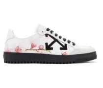 Bedruckte Sneakers Aus Leder Mit Besatz Aus Veloursleder -