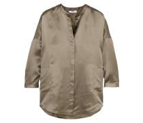 Pyjama-oberteil Aus Seiden-jacquard In Oversized-passform -